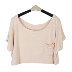 Summer Short Batwing Crop Loose Tops - J20Style - 7