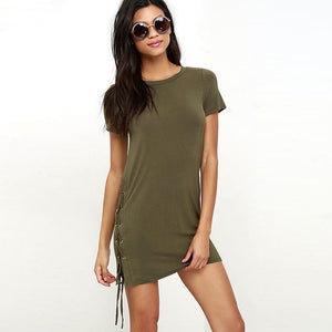 Short Sleeve Sexy Slim Casual Party Mini Dress