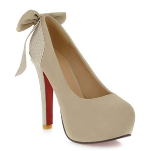 High Quality Sweet Bowtie Wedding Heels - J20Style - 6