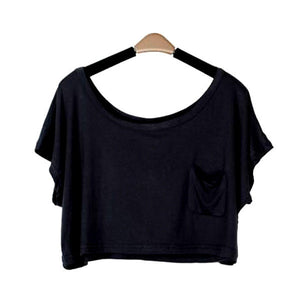 Summer Short Batwing Crop Loose Tops - J20Style - 8