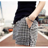 Black And White Plaid Shorts - J20Style - 7