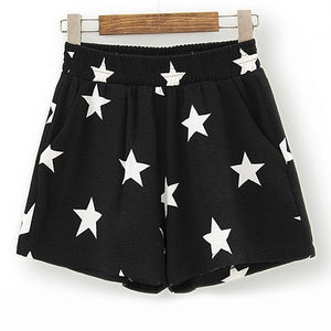 Casual Elastic Star Printed Shorts - J20Style - 6