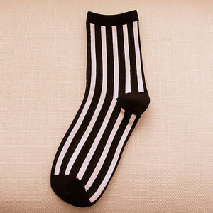 Autumn Beathable Vertical Stripes Socks - J20Style - 8