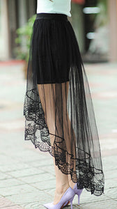 Summer Long Lace Section Jupe Tulle Skirt - J20Style - 7
