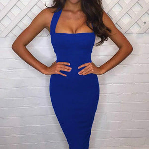 Sexy Bandage Halter Strapless Sleeveless Party Dresses