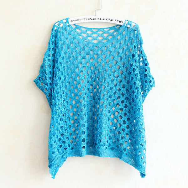 Summer Hollow-Out Knitted Shirt - J20Style - 7