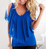 Summer Sleeveless Off The Shoulder Chiffon Tops - J20Style - 8