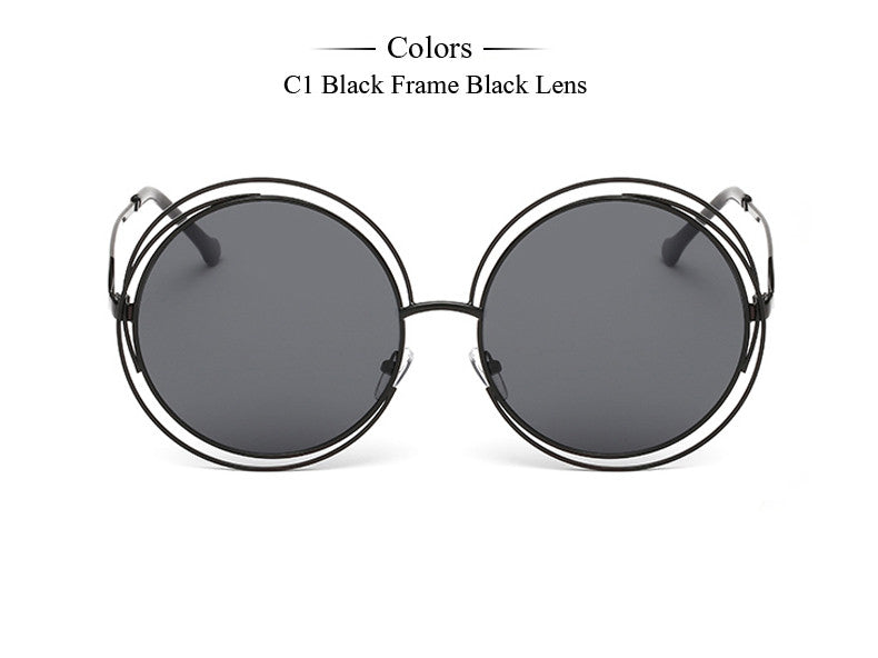 Carlina Round Wire-Frame Sunglasses – J20Style