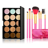 15 Color Make-Up Palette with 7 Powder Brush - J20Style - 7