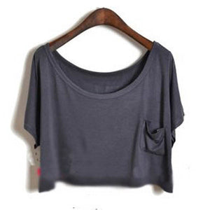 Summer Short Batwing Crop Loose Tops - J20Style - 9