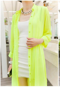 Summer Chiffon Loose Transparent Blouse - J20Style - 10