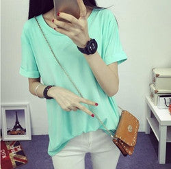 Summer Candy Color O-Neck Tops - J20Style - 9