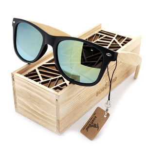 Summer Style Vintage Sunglasses with Wooden Box - J20Style - 7