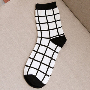 Autumn Beathable Vertical Stripes Socks - J20Style - 13