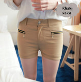 Double Zipper Slim Candy Color Short - J20Style - 15