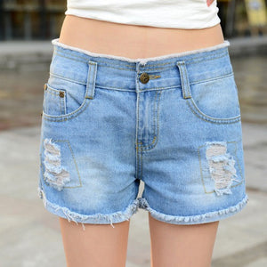 Hollow Out Ripped Jeans Shorts - J20Style - 7