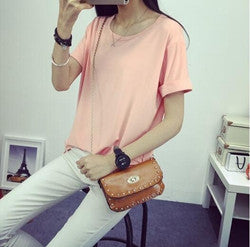 Summer Candy Color O-Neck Tops - J20Style - 4