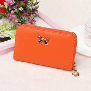 Candy Color Bowknot Short Wallet - J20Style - 13