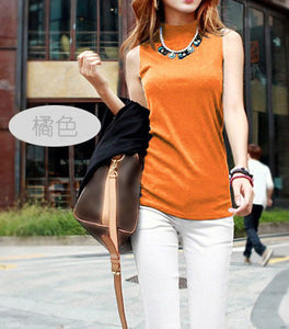 Summer Sleeveless Turtleneck Cotton T-Shirt - J20Style - 8
