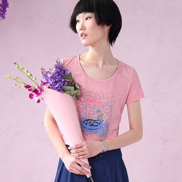 New Cotton O Neck printed Graphic T Shirt
