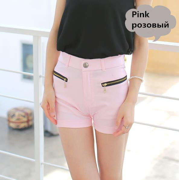 Double Zipper Slim Candy Color Short - J20Style - 6