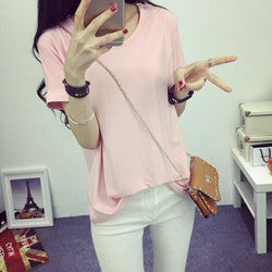 Summer Candy Color O-Neck Tops - J20Style - 5