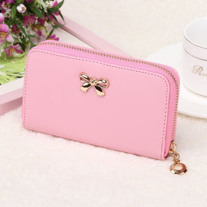 Candy Color Bowknot Short Wallet - J20Style - 10