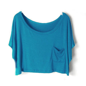 Summer Short Batwing Crop Loose Tops - J20Style - 14