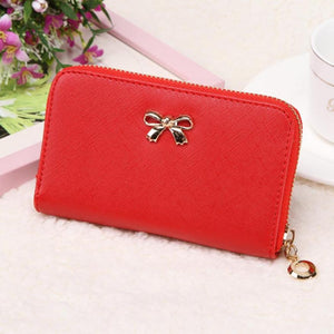 Candy Color Bowknot Short Wallet - J20Style - 8