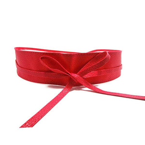 Soft Leather Self Tie Waist Band - J20Style - 11