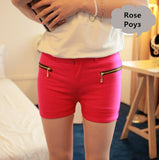 Double Zipper Slim Candy Color Short - J20Style - 7