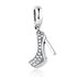 925 Sterling High Heeled Shoes Bead
