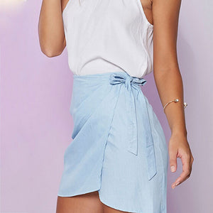 Summer Bowtie Mini Pencil Skirt - J20Style - 5