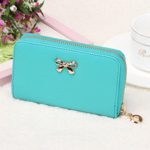 Candy Color Bowknot Short Wallet - J20Style - 12