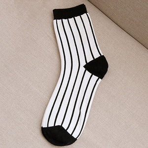 Autumn Beathable Vertical Stripes Socks - J20Style - 12