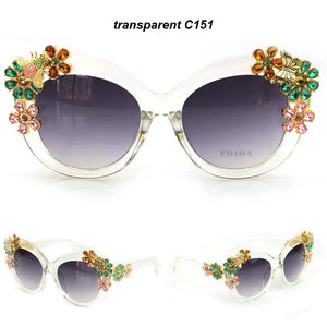 Flower Decoration Vintage Shades Sun glasses