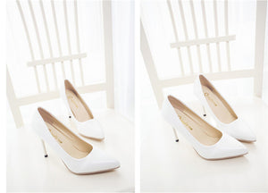 PU Leather Pointed Toe High Heels - J20Style - 7