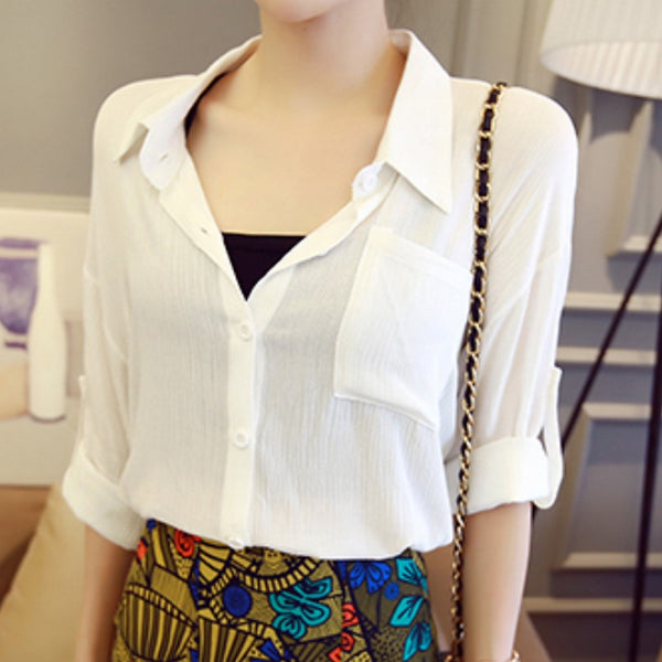 Yellow & White Temperament Women Blouse - J20Style - 7