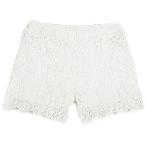 Casual Elastic Waist Lace Shorts - J20Style - 7