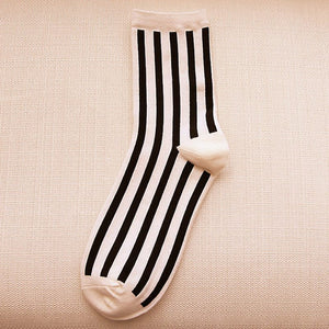 Autumn Beathable Vertical Stripes Socks - J20Style - 9