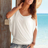 Summer Batwing Sleeve Loose Shirt - J20Style - 7