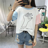 Funny OK Gesture Loose Girl Top