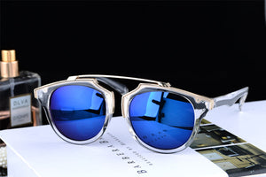 Transparent Frame Polarized With Metal Mirror Sunglasses