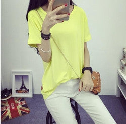 Summer Candy Color O-Neck Tops - J20Style - 7