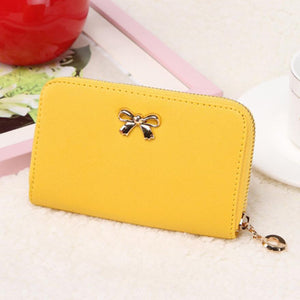 Candy Color Bowknot Short Wallet - J20Style - 9