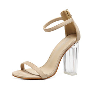 Crystal Clear Transparent Ankle Strap Party Wedding Sandal