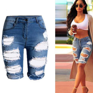 Half Ripped High Waist Jeans - J20Style - 5