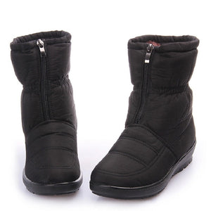Female Waterproof Down Warm Snow Ankle Boots