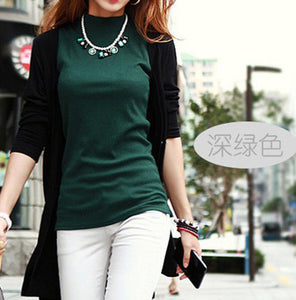 Summer Sleeveless Turtleneck Cotton T-Shirt - J20Style - 2