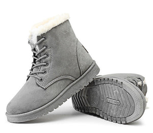 Round Toe Warm Winter Snow Ankle Boots